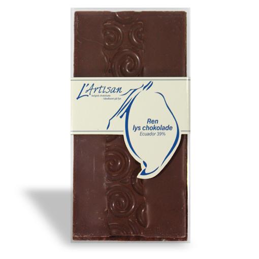 Ren lys chokolade Ecuador 39%